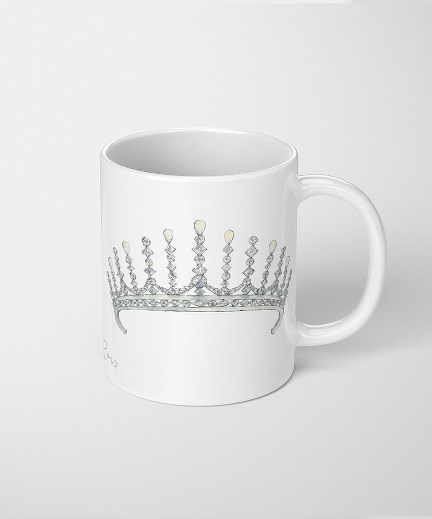 Pearl & Diamond Tiara Coffee Mug