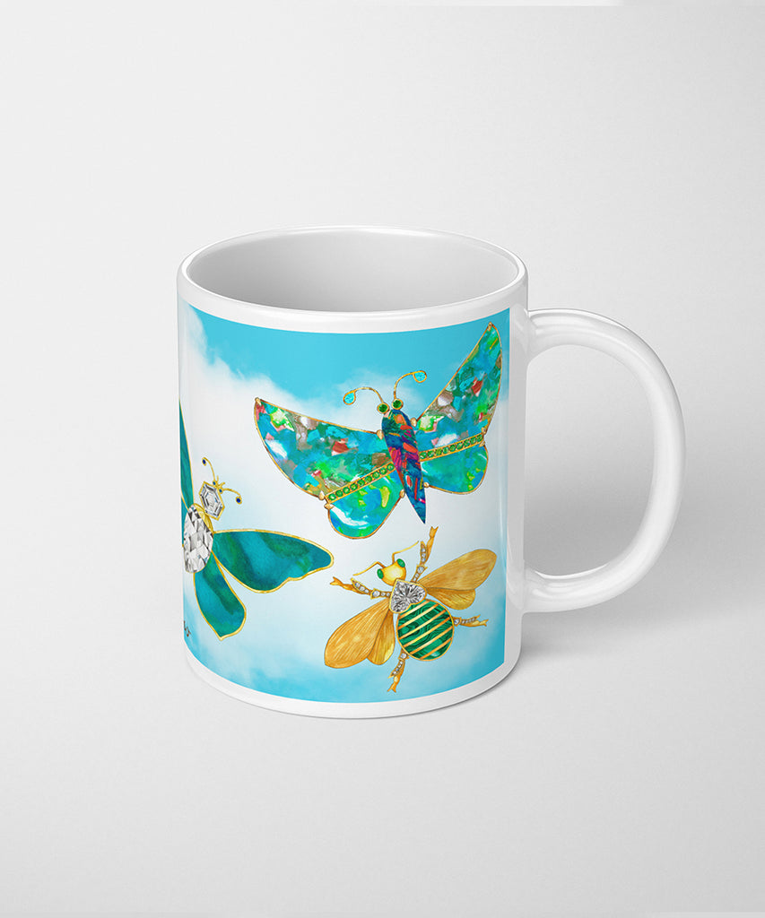 Butterflies & Bee Coffee Mug
