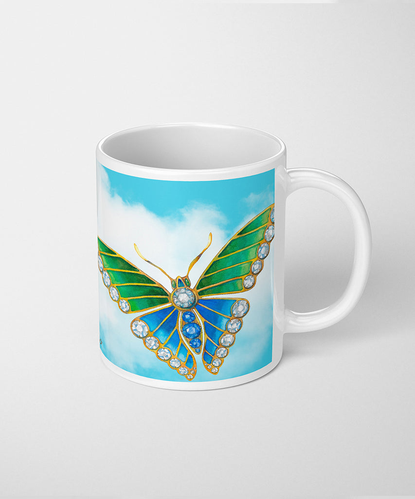 Butterfly in the Sky Coffee Mug