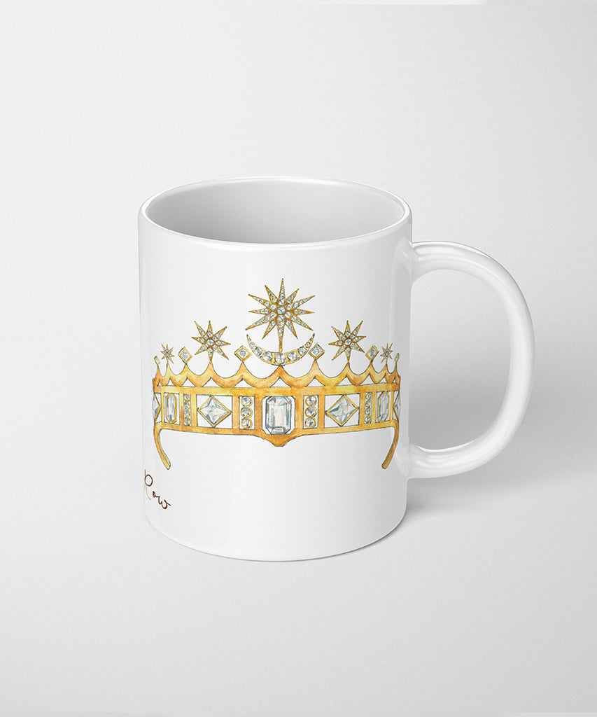 Crescent Moon & Stars Tiara Coffee Mug