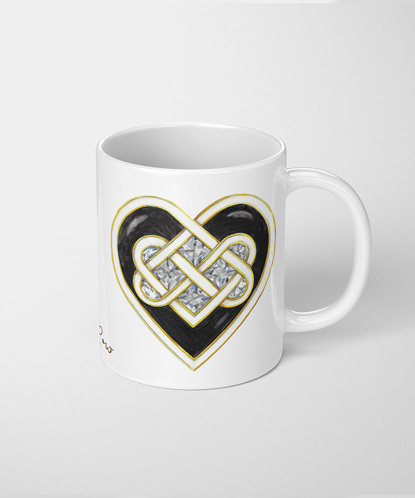 Celtic Knot Heart Coffee Mug