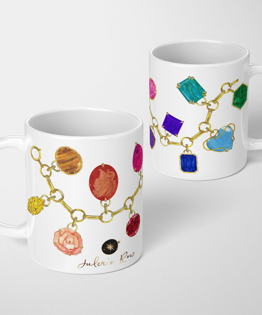 Gemstone Charm Bracelet Coffee Mug