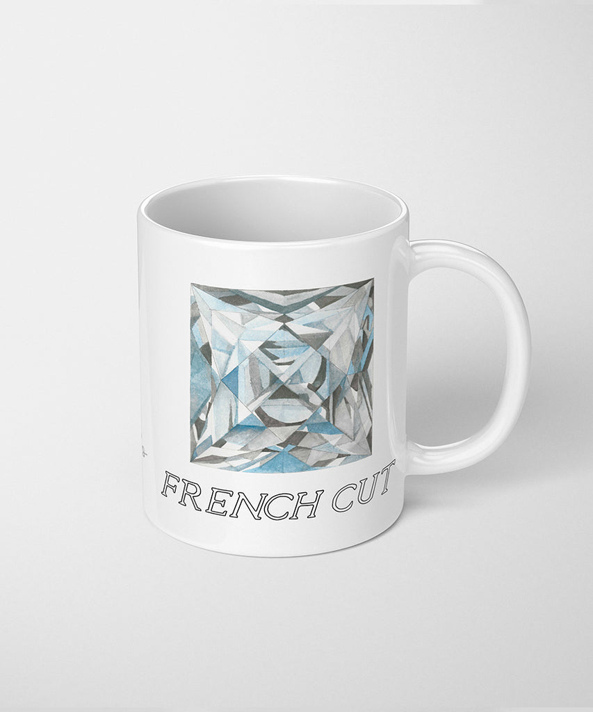 French Cut Diamond Coffee Mug