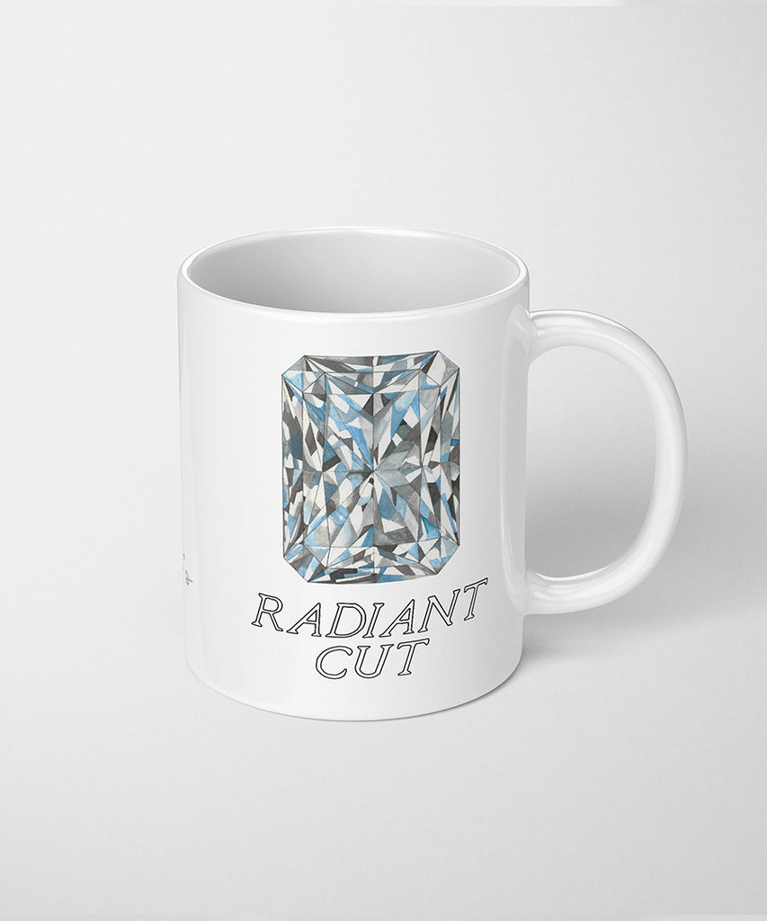 Radiant Cut Diamond Coffee Mug