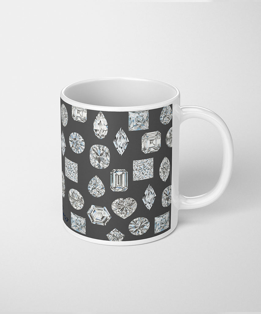 Linen Diamond Coffee Mug