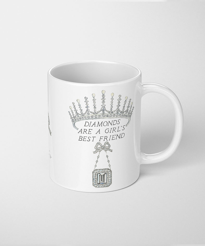 Diamonds are a Girl's Best Friend Coffee Mug
