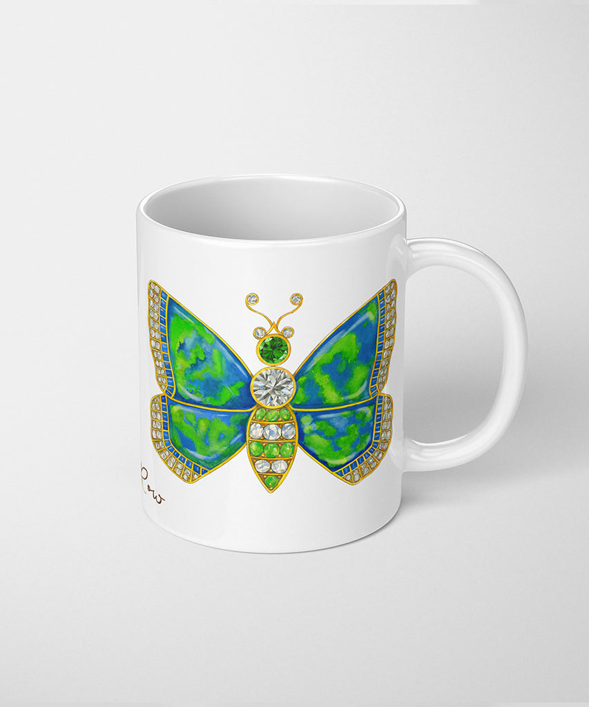 Butterfly Brooch Coffee Mug