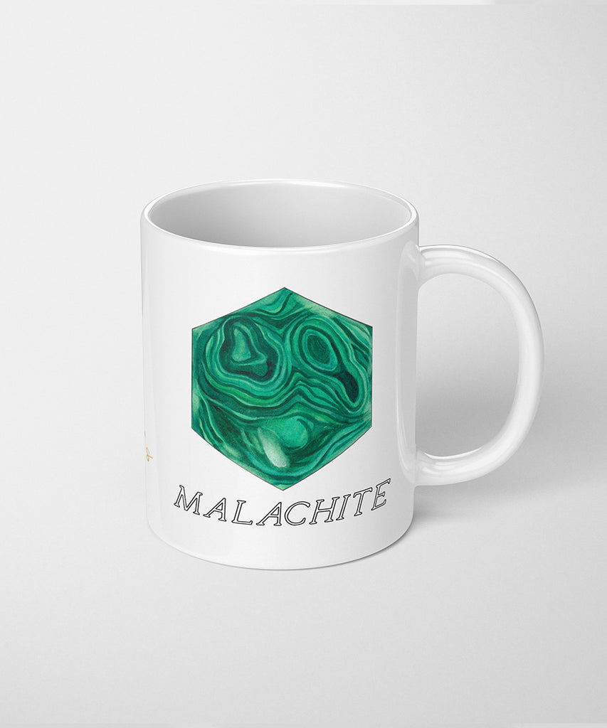Hexagonal Malachite Coffee Mug