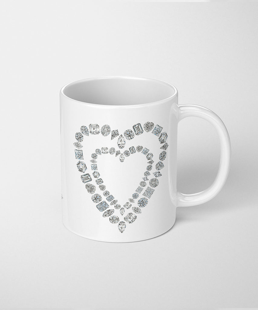 Diamond Heart Coffee Mug
