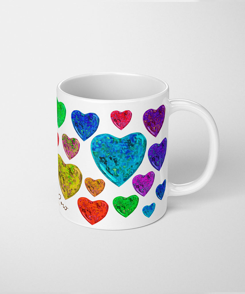 Opal Heart Coffee Mug