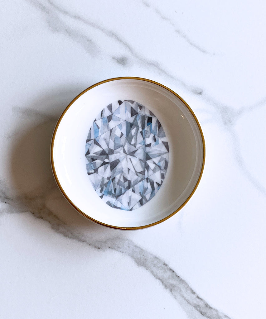 Oval Diamond Ring Dish