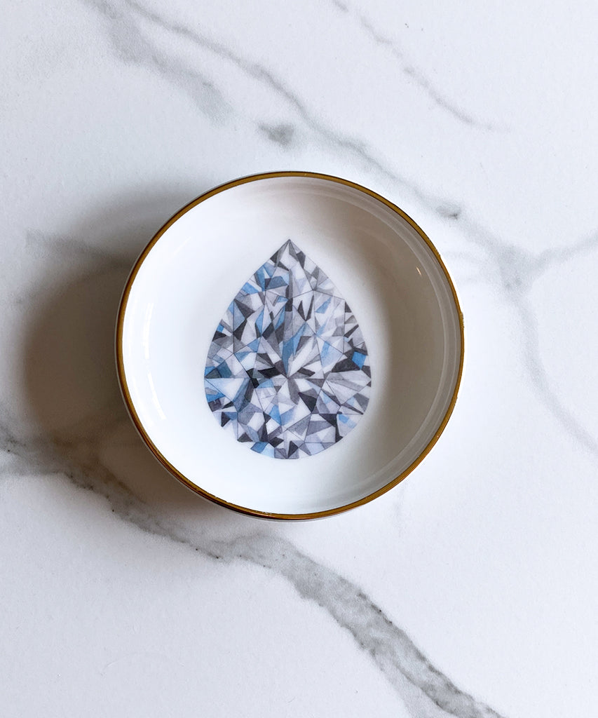 Pear Shape Diamond Ring Dish