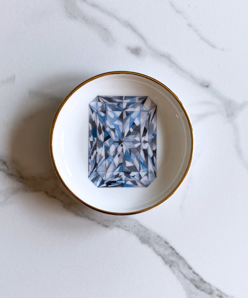 Radiant Cut Diamond Ring Dish