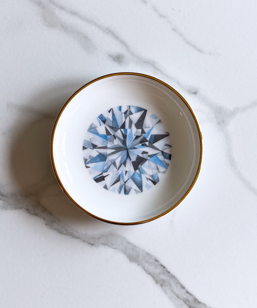 Round Brilliant Cut Diamond Ring Dish