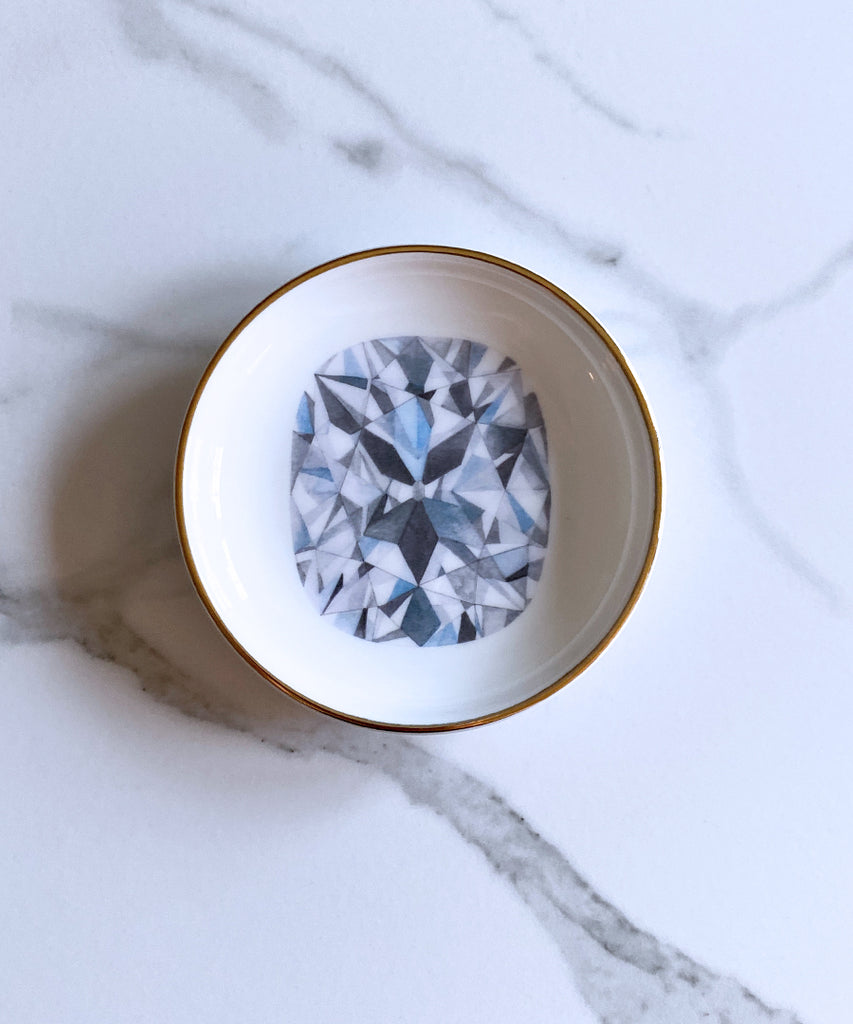 Cushion Cut Diamond Ring Dish