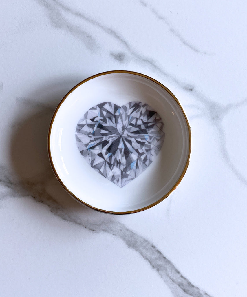 Heart Shape Diamond Ring Dish