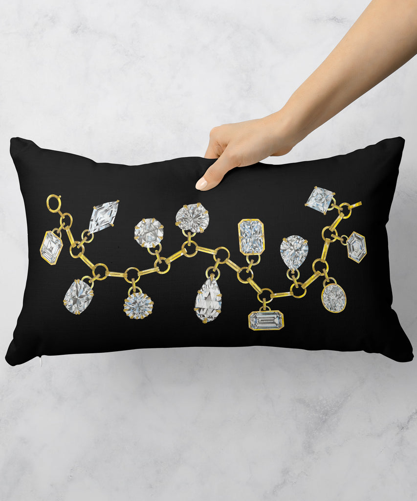 Diamond & Gemstone Charm Bracelet Pillow