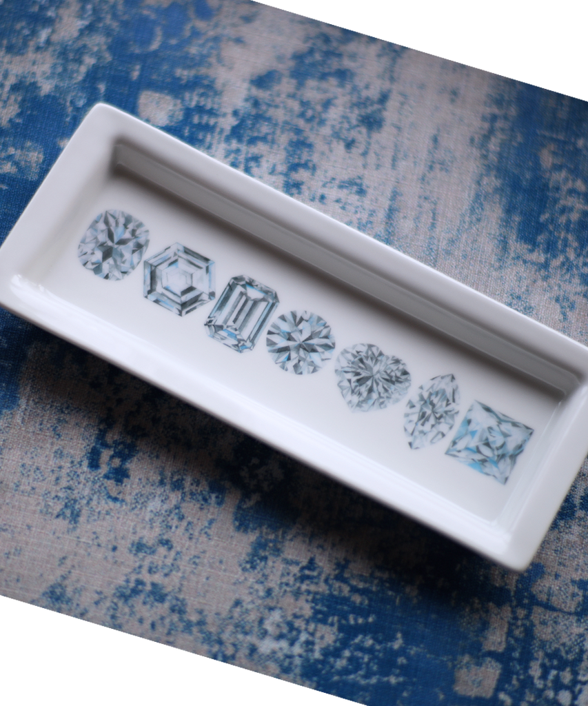 Diamond Porcelain Jewelry Tray