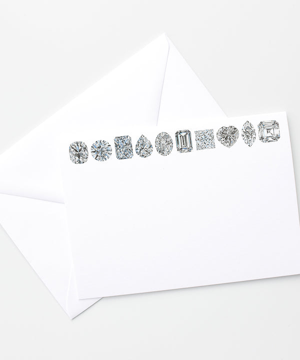 Diamond Shape Stationery