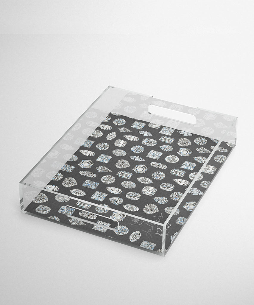 Diamond Shapes Acrylic Tray
