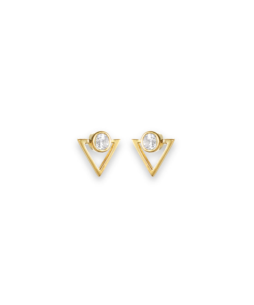 Triangular White Zirconia Studs