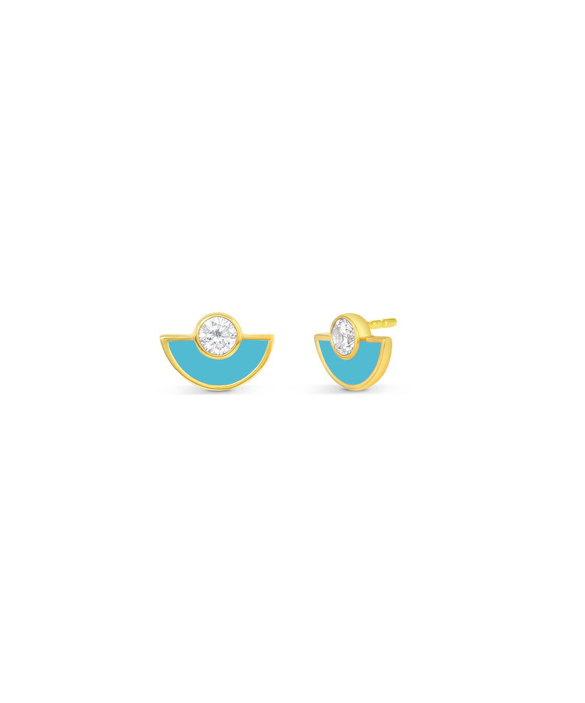 Enamel Fan Studs