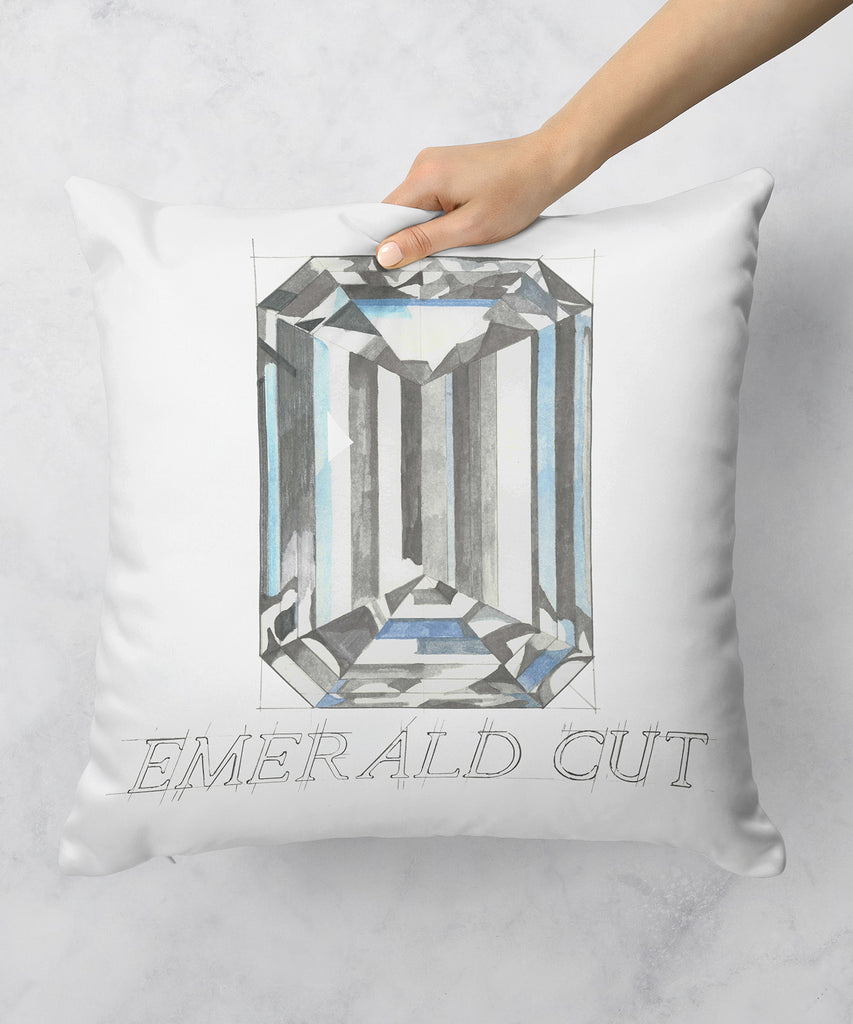 Emerald Cut Diamond Pillow