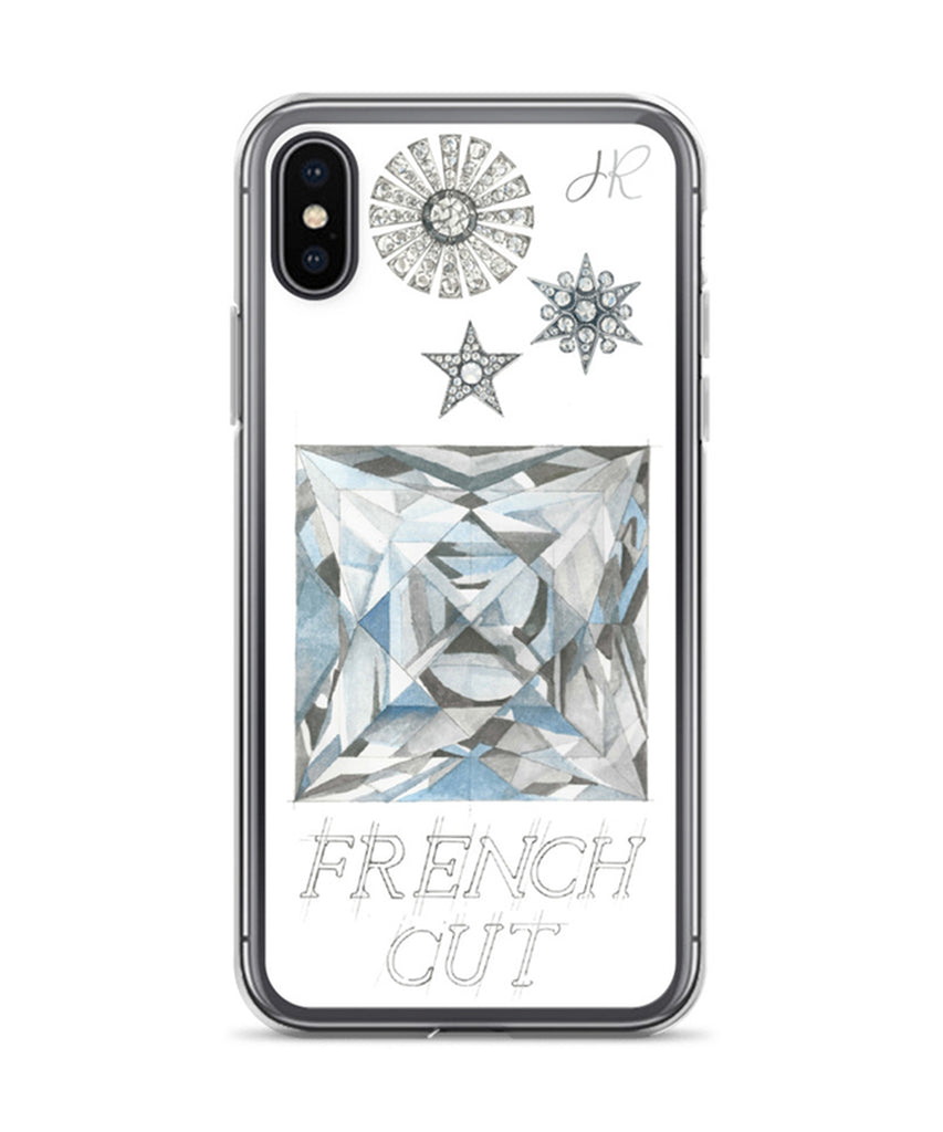French Cut Diamond Phone Case