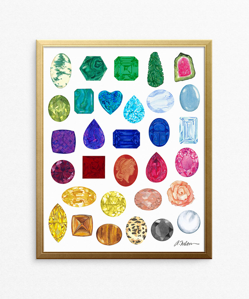 Gemstone Rendering Series I Watercolor on Paper