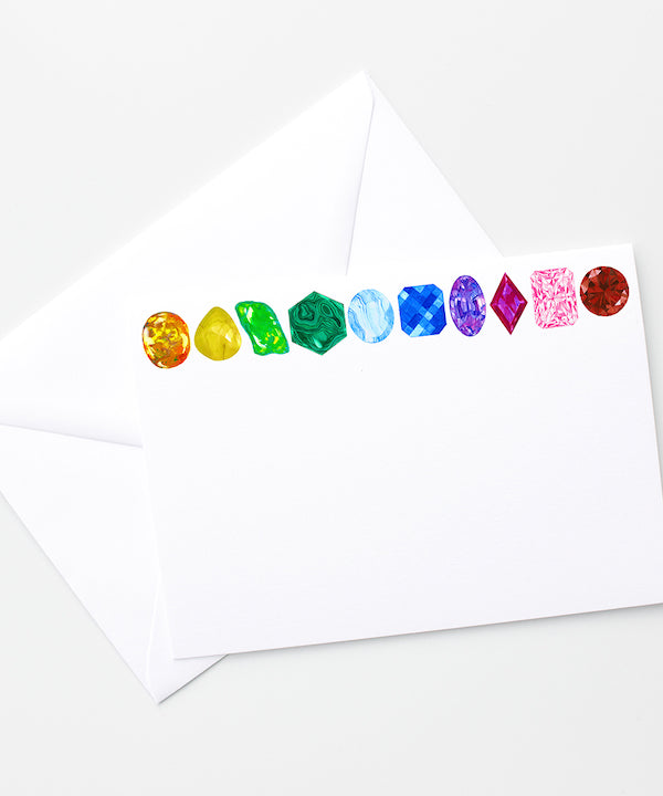 Rainbow Gemstone Stationery