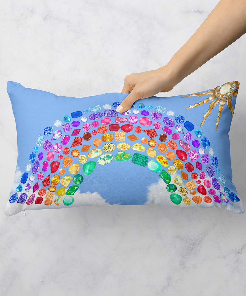 Rainbow Gemstone Series II Pillow