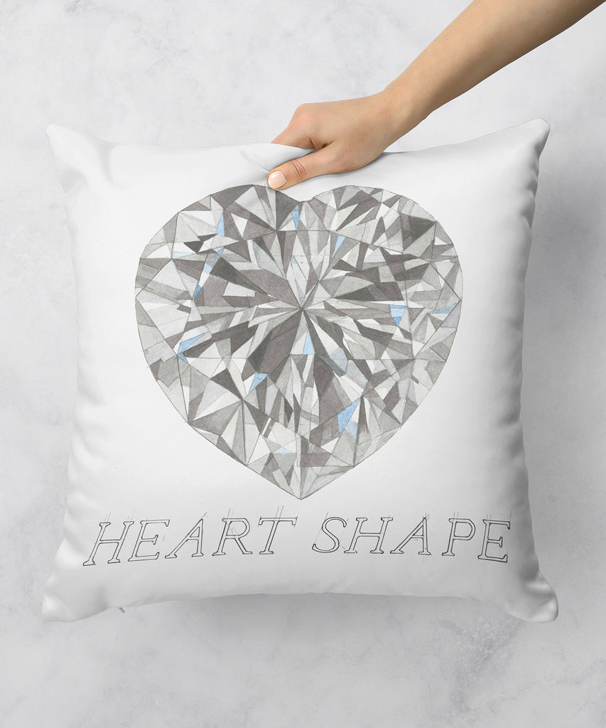 Heart Shape Diamond Pillow