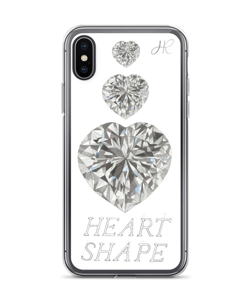 Heart Shape Diamond Phone Case
