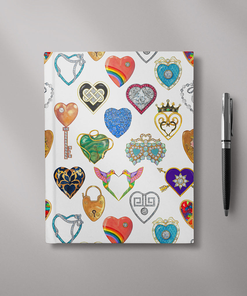 Jeweled Hearts Journal