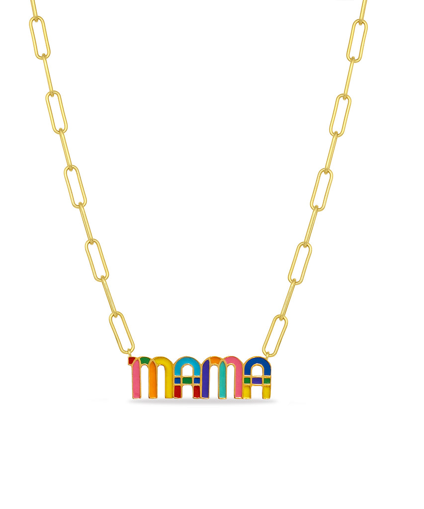 MAMA Enamel Necklace