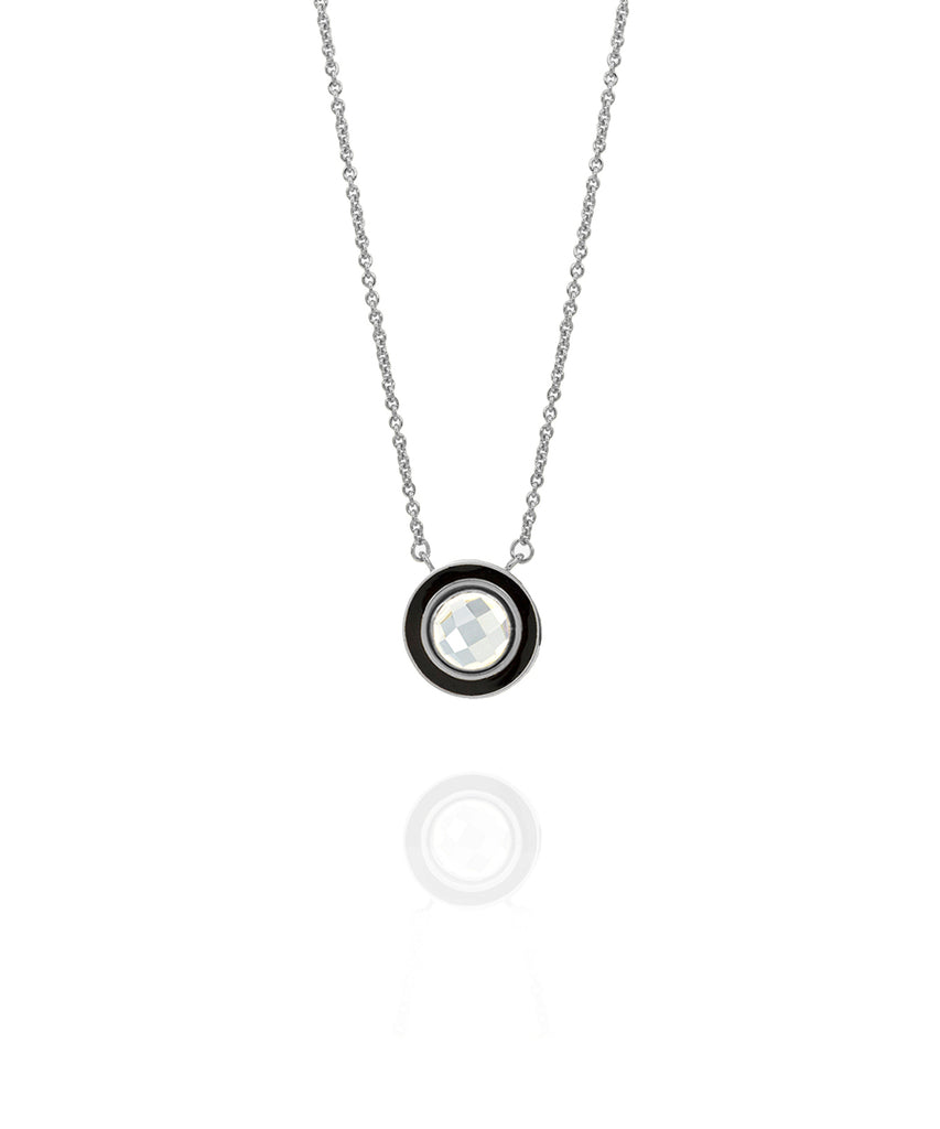 Halo Enamel Necklace
