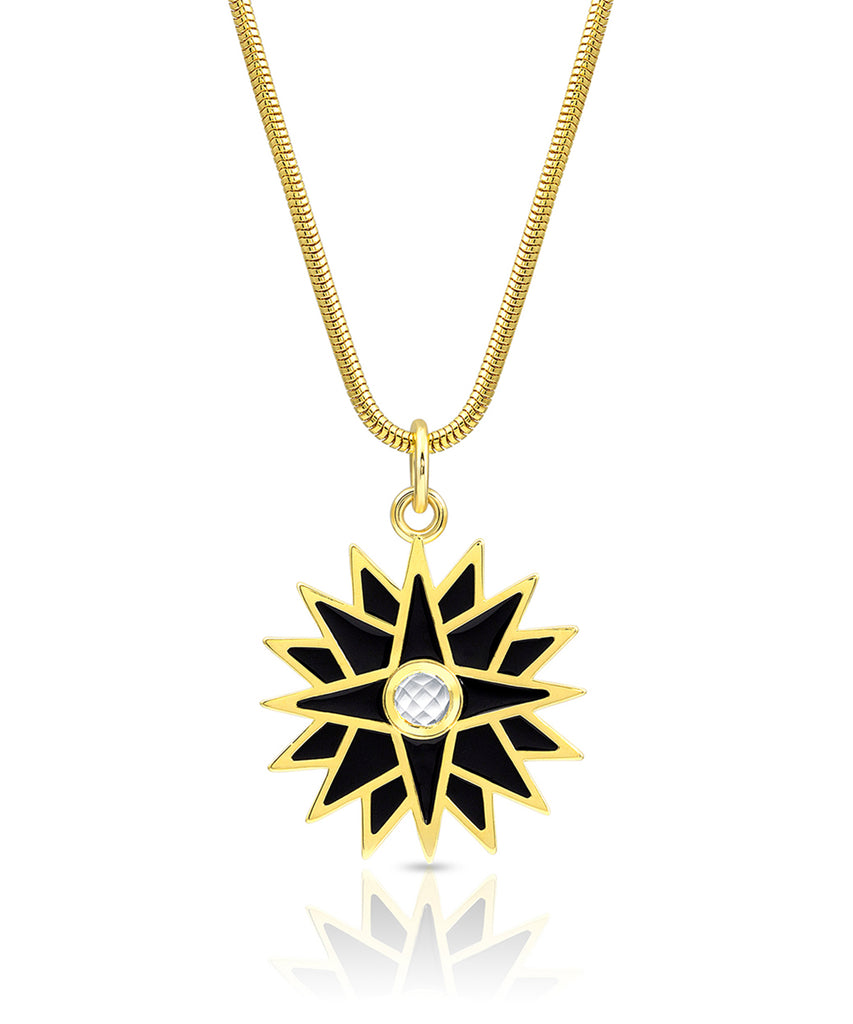 Starburst Enamel Necklace