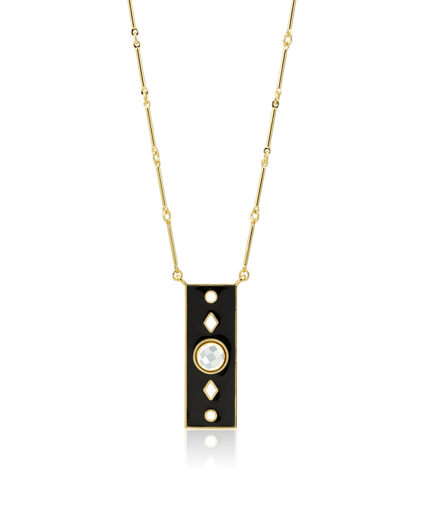 Rectangle Enamel Necklace