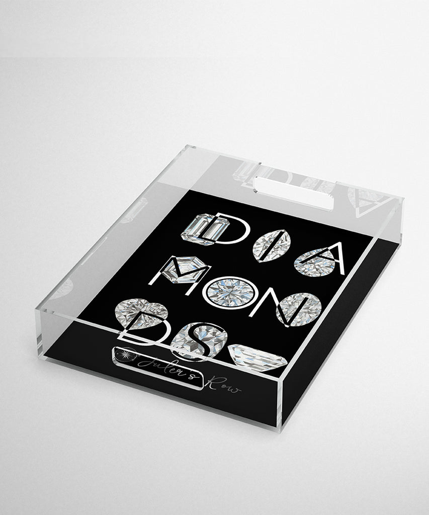 DIAMONDS Acrylic Tray