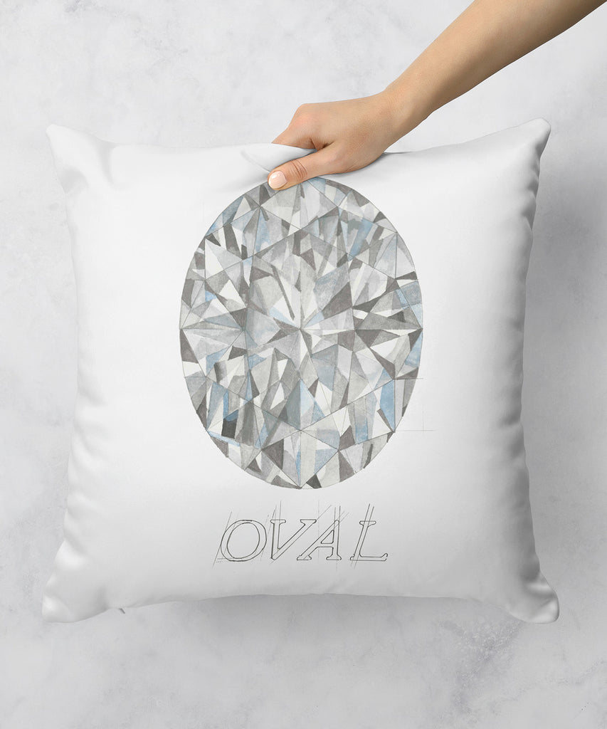 Oval Diamond Pillow