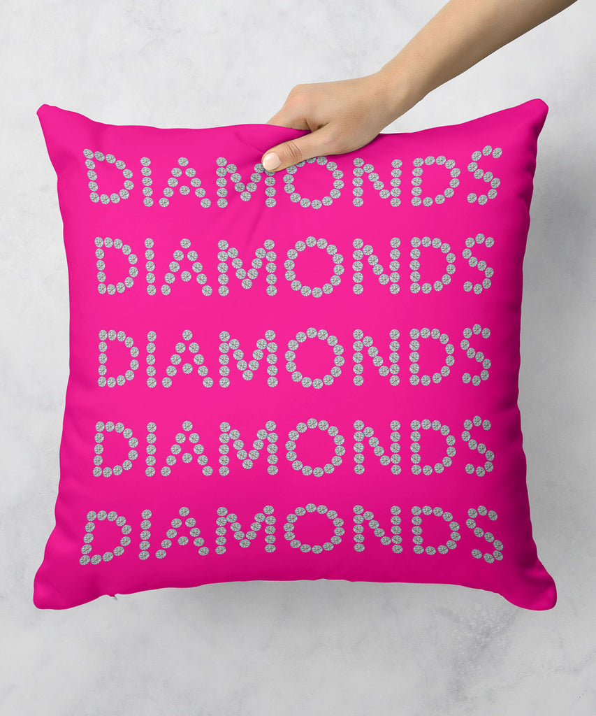 Diamonds on Pink Pillow