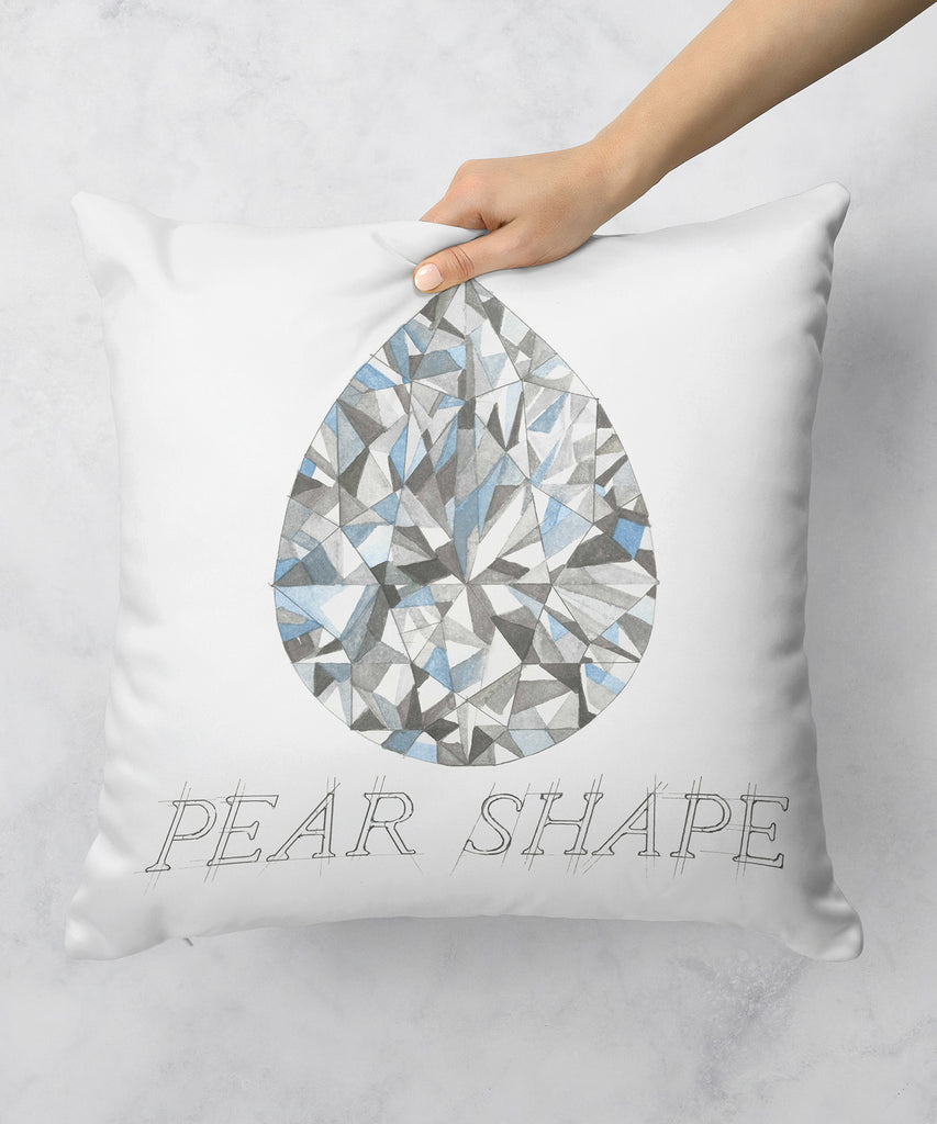Pear Shape Diamond Pillow
