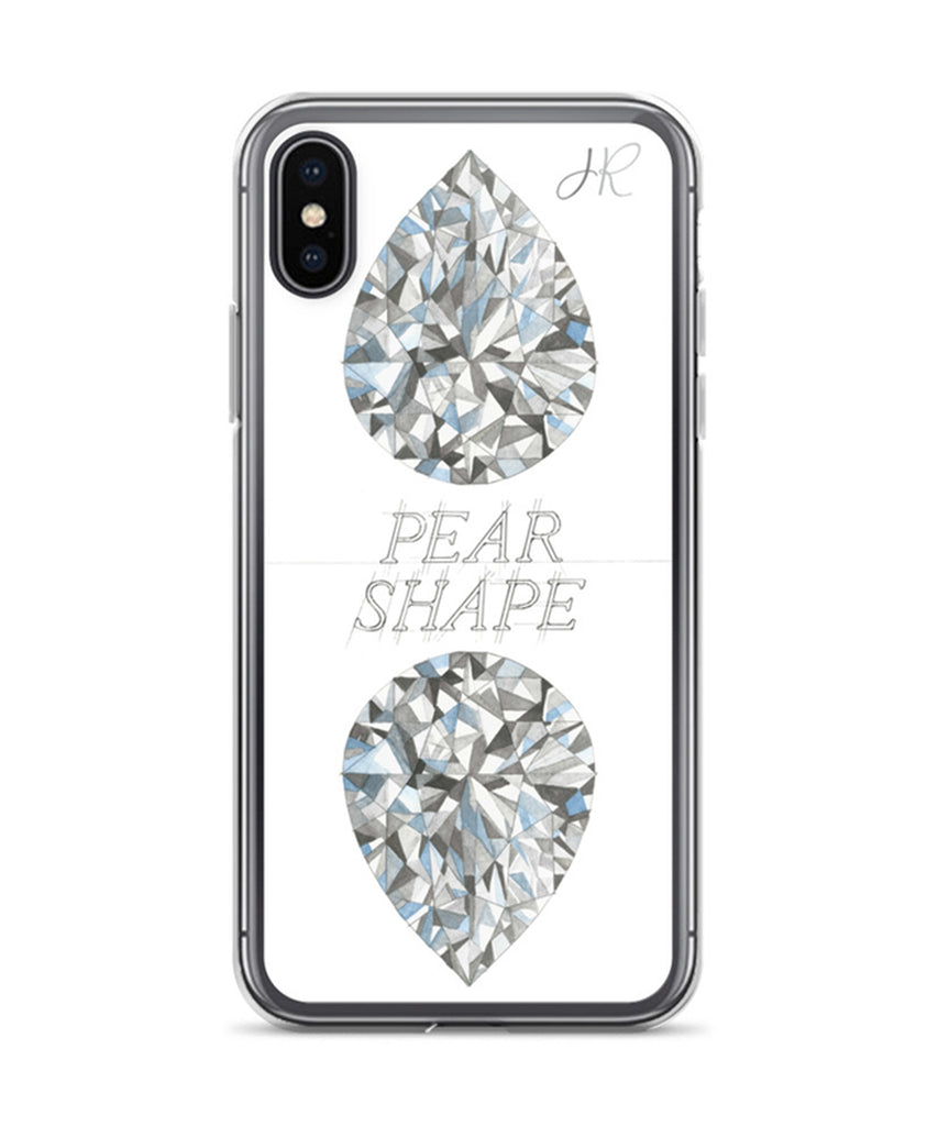 Pear Shape Diamond Phone Case
