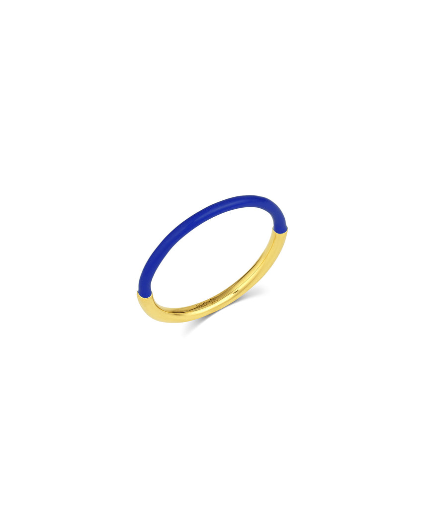 Rounded Half Enamel Band