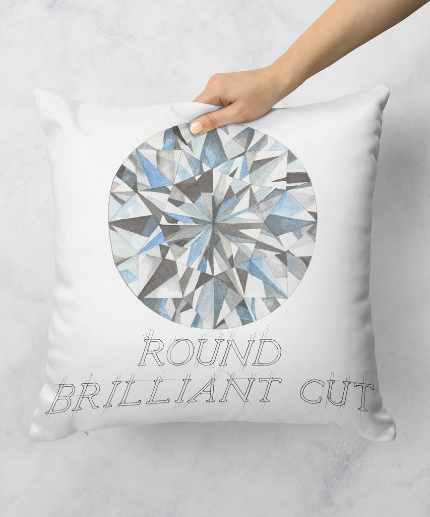 Round Brilliant Cut Diamond Pillow