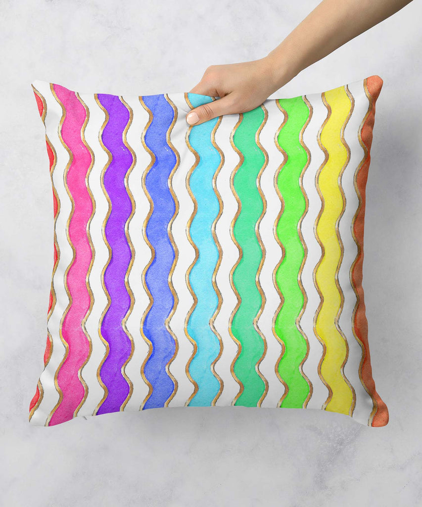 Ric Rac Enamel Rainbow Pillow