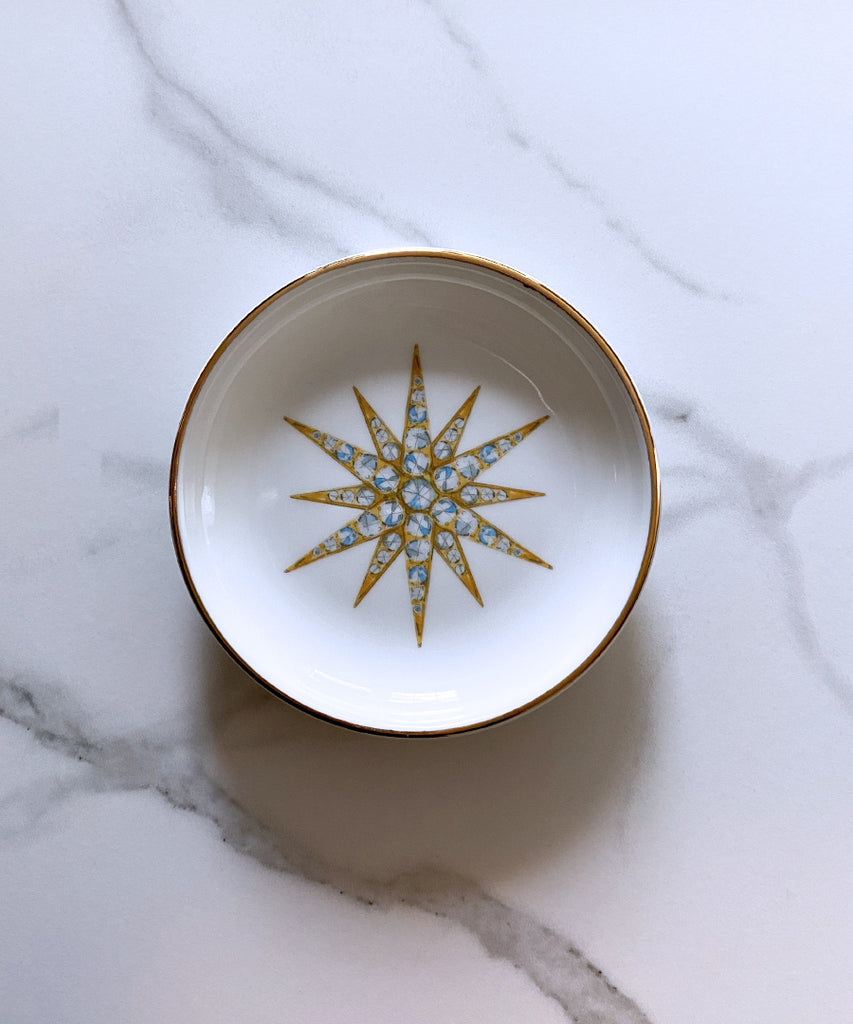 Victorian Star Porcelain Ring Dish