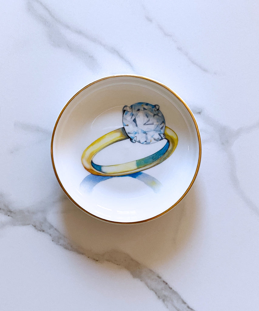 Solitaire Porcelain Ring Dish