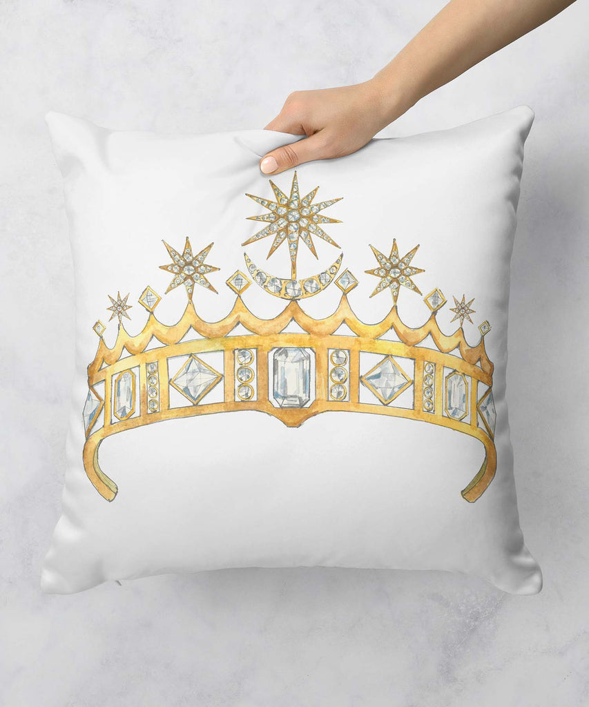 Star & Crescent Moon Tiara Pillow