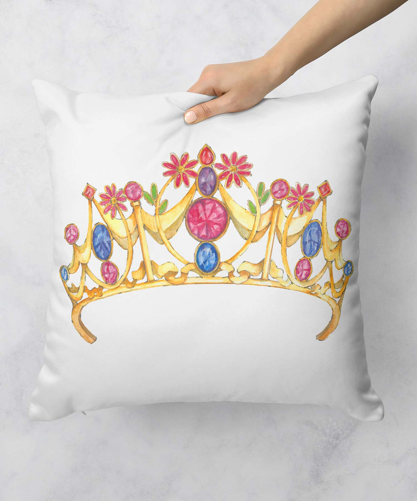 Floral Gemstone Tiara Pillow